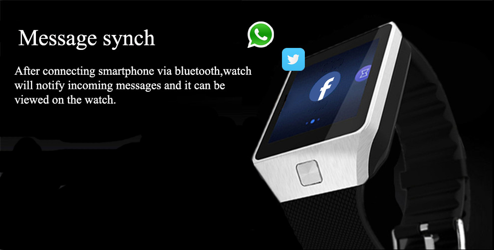 Montre Smart Watch DZ09 Or Orange Blanc Noir Smartwatch Bluetooth Montres Pour IOS Android Iphone Carte SIM Caméra