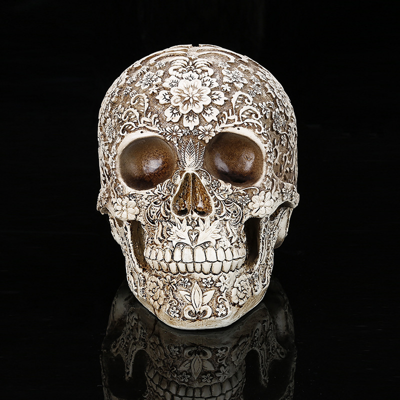 Horror casa decoración de la Mesa de artesanía Terror humano cráneo esqueleto escultura decoración de Halloween modelo arte regalo