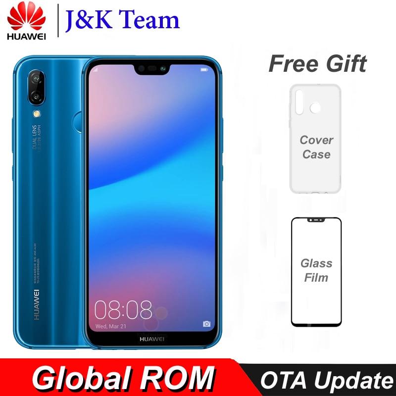 US $189 99 |Huawei P20 Lite Global Firmware Nova 3e 4G LTE Mobilephone Face  ID 5 84
