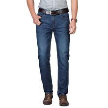 Брюки мужские джинсовые приталенные хлопок штаны повседневная