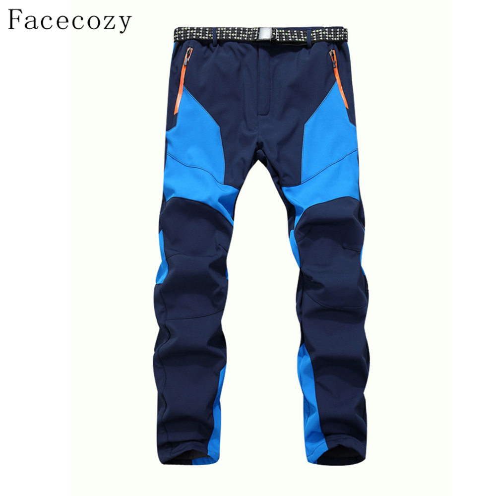 Facecozy Men Winter Windproof Trekking Pants Male Autumn Outdoor Sports Patchwork Softshell Trouser садовая химия