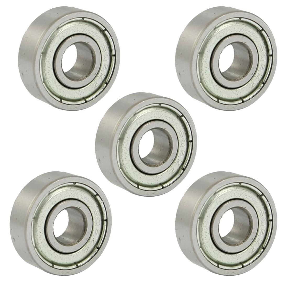 WSFS Hot 606Z 6 x 17 x 6mm Metal Miniature Deep Groove Ball Bearings 5 Pcs wsfs hot 10 pcs 625zz 5mm x 16mm x 5mm