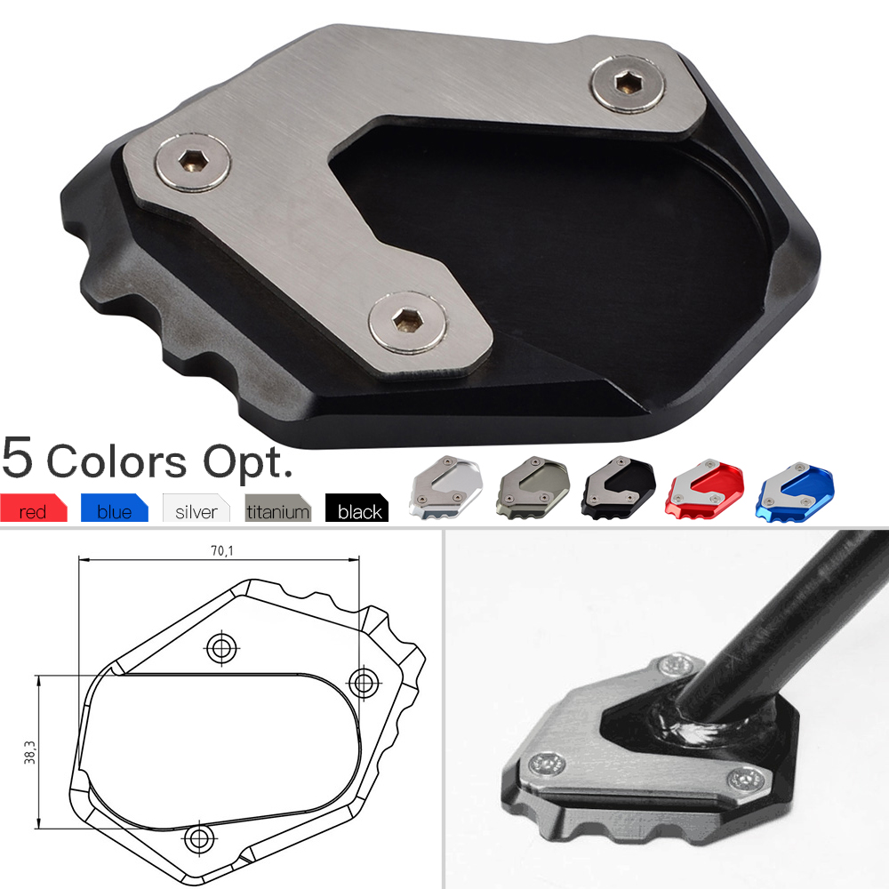 Kickstand Side Stand Extension Plate Pad For <font><b>BMW</b></font> R1200GS LC R 1200GS R <font><b>1200</b></font> <font><b>GS</b></font> LC 2013-2015 2016 2017 <font><b>2018</b></font> Enlarge Support Pad image