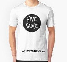4312688d0 Moda Cool Men T shirt Mulheres tshirt Engraçado cinco salsa Personalizado  Impresso T-Shirt(