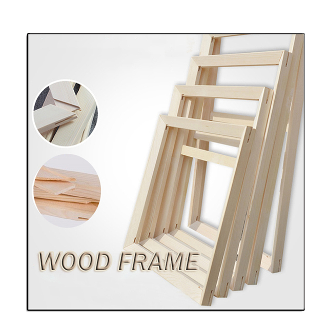 Wood Frame For Wall Canvas Oil Painting DIY Picture painting by number Wall Frame Poster Frame Photo Frame cadre  murale 40x50cm