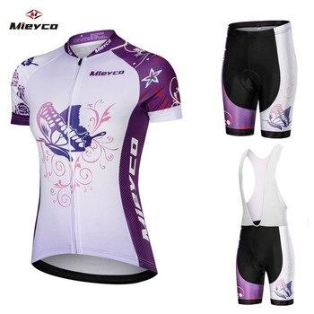 Equipe de Verão de Ciclismo Jersey Definir Mulheres Respirável de Secagem rápida Esporte De Corrida de Bicicleta Jersey Roupas de Ciclismo MTB Bicicleta Jerseys 2019