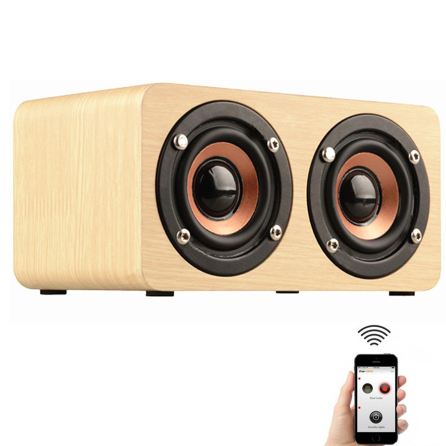 2016 wooden portable bluetooth speaker wireless retro enceinte bluetooth speaker 3d dual. Black Bedroom Furniture Sets. Home Design Ideas