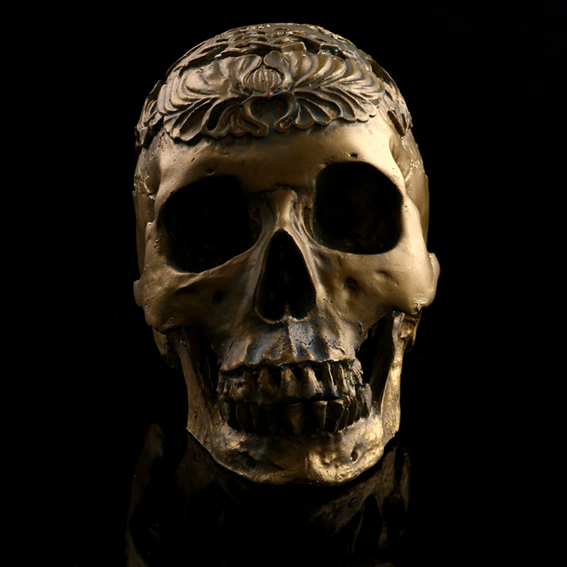 European Style Simulation Skullcandy Model Creative Resin Craftwork Line Drawing Teaching Aids Halloween Gift L985