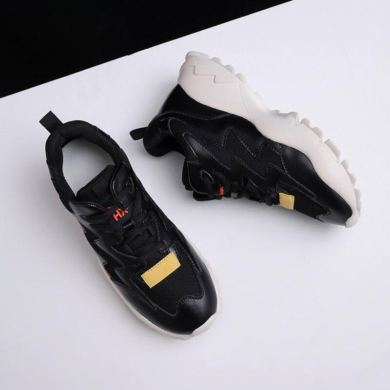 Mode Cm Occasionnels noir Chaussures En 42 35 Femmes Cuir Femme Sneakers Véritable 4 Beige gRxtqFZw