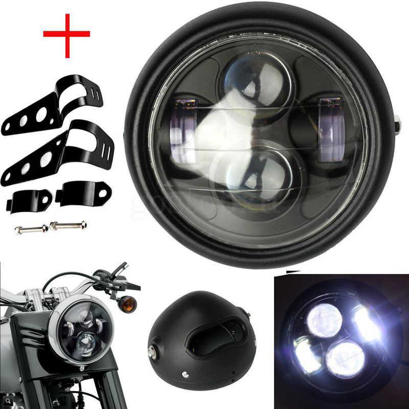 Fork Light CG125 Retro Headlight Motorcycle Adapter for Vintage Honda 125  Harley Dicati 6.2