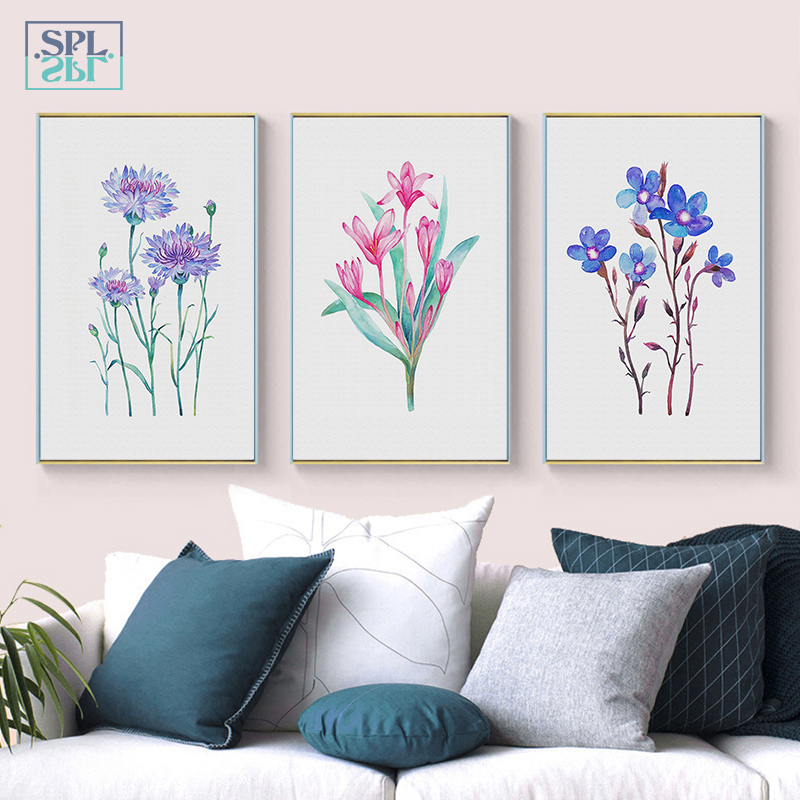 SPLSPL Flowers Oil Canvas Art Print Painting Poster, Wall Pictures For Home Decoration, Living Room Wall Bedroom Ornamentation