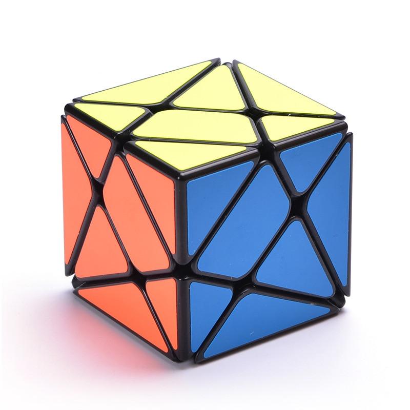 MoYu YongJun YJ Axis Magic Cube Change Irregularly Jinggang Speed Cube with PVC Sticker YJ 3x3x3 Black Body Cubo Magico yj guanlong speed third order magic cube toy