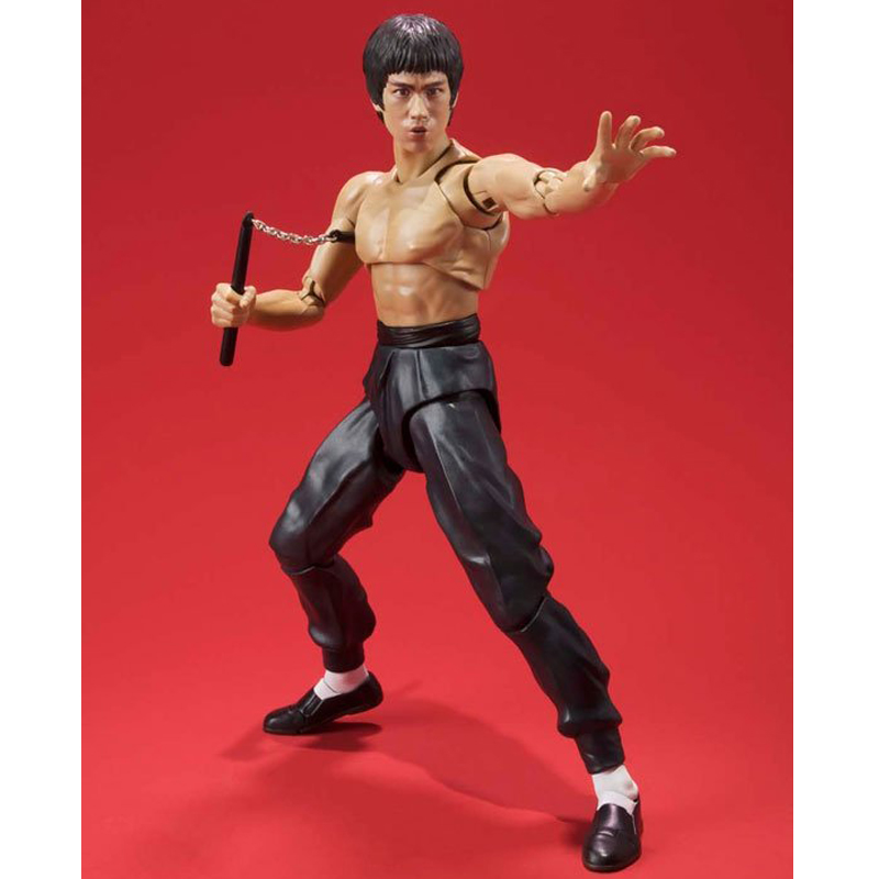 Bruce Lee Way of the Dragon Fist of Fury Yip Man Pupil Joint Movement Anime Action Figure PVC Collection Toys 15cm image