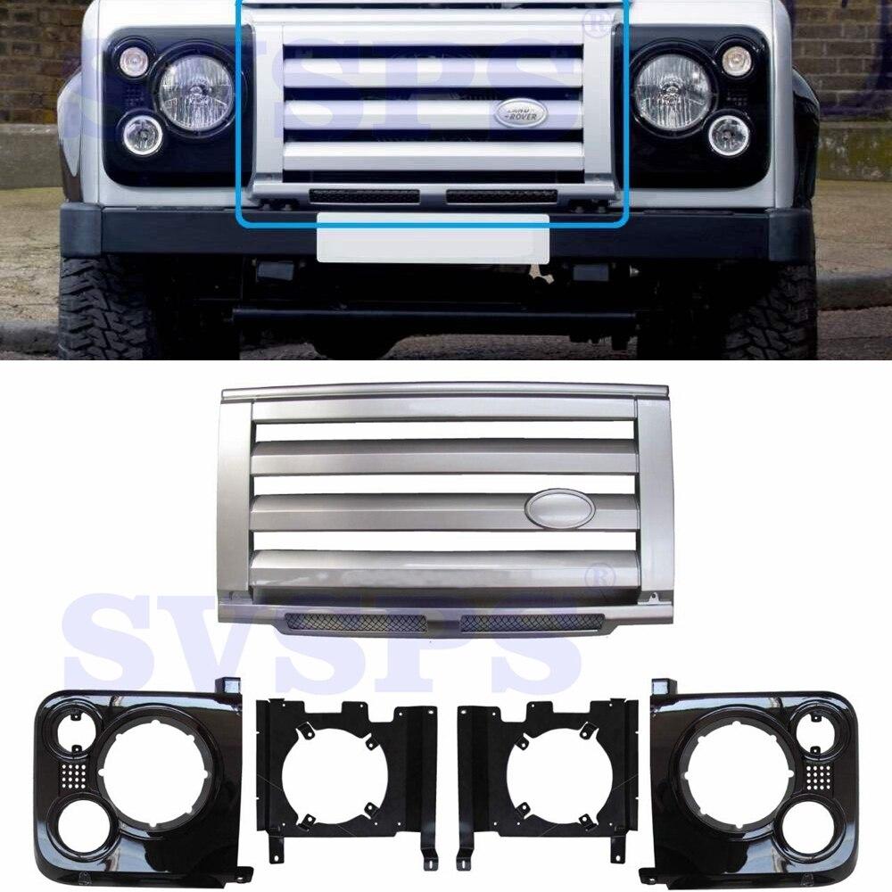 Auto stying Anteriore SVX Kit ABS Griglia Centrale e circonda e Staffe Per Land Rover Defender Veicolo Ricambi Auto 1992 -2016 anni