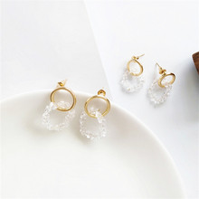 fashion Luxury Pure Color Stone Pendant Earrings For Women ZA Wedding Dangle Drop Jewelry Charm Statement Wholesale