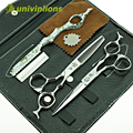 """Univinlions 6 """"mejor cabello japonés tijeras de peluquería tijeras de corte de pelo profesional tijera tijeras de peluquero tijeras de reducción establecidos"""