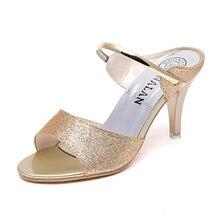 Mujeres zapatos sexy tacón alto retro sandalias respirables clubes de  encaje Delgado lentejuelas zapatos de tacones 6b6391becbd3