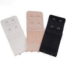 Полезный черный, белый бюстгальтер удлинители ремень расширение 2 крючка 2 ряда Регулируемая пряжка для ремня кнопка аксессуары для женщин