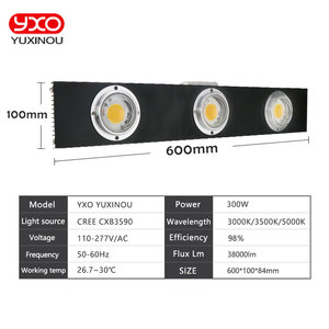 Image 3 - CREE CXB3590 300W COB Dimmable LED Grow Light Full Spectrum LED Lamp 38000LM=HPS 600W Growing Lamp Indoor Plant Growth Lighting