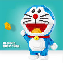 Balody big size blocks Nick fox Model Building Bricks Mar Doll robot cat Toys Anime Juguetes Gifts for TOY Shop Display