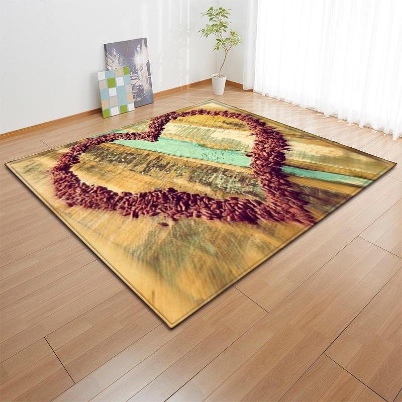 Nodic coeur impression tapis pour salon paillasson extérieur salon de prière grande surface tapis anti-dérapant couverture Table Pad décor à la maison