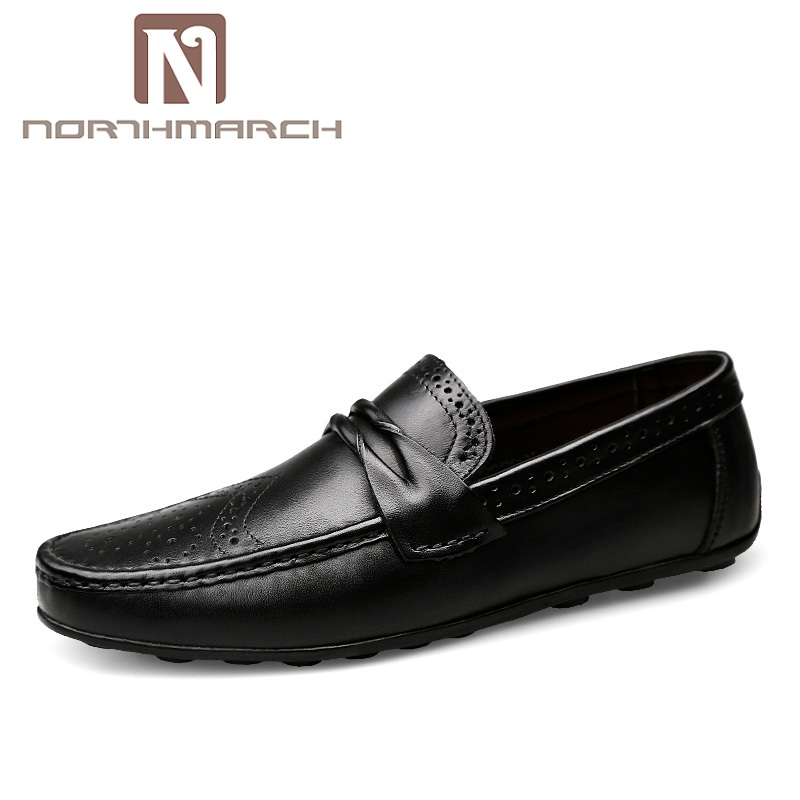 NORTHMARCH Brand Men Shoes 2018 New Breathable Comfortable Genuine Leather Shoes Men Luxury Men Casual Shoes Loafers Moccasins цена