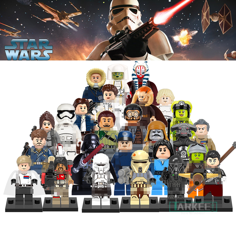 1pc Building Block Kit Star Wars Figures Imperial Inquisitor Kanan Han Solo Death Trooper Darth Vader Action Brick Kids DIY Toys 3pcs set imperial hovertank pilot death trooper shoretrooper diy figures starwars superheroes building blocks new kids toys xmas