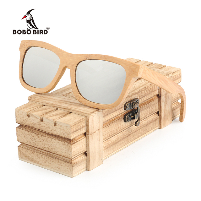 BOBO BIRD Polarized Sunglasses Men Bamboo Frame Glasses Fashion Eyewear With Gift Box oculos de sol masculino BG003