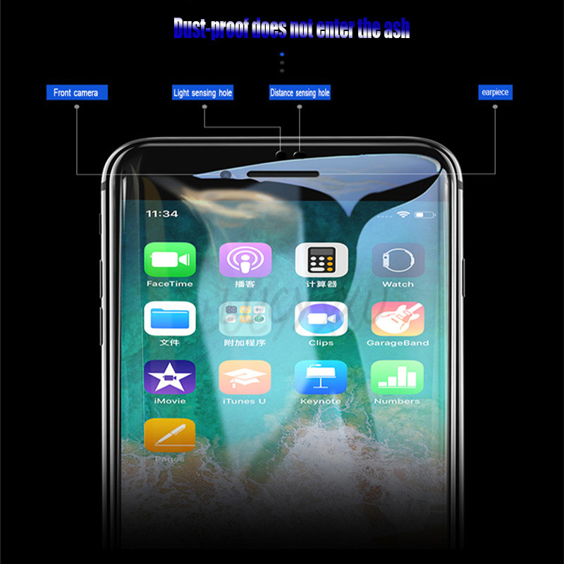6D High quality Curved Edge Protective Glass For iPhone XR XS Max For iPhone 7 6 6s 8 Plus Glass Film For iPhone 8 for iPhone XS in Phone Screen Protectors from Cellphones Telecommunications