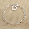 Thomas Style Silver Plated DIY Bassic Bracelet,European Jewelry Charm&Beads Carrier Mujer Bijoux,Christmas Gift Super Deals