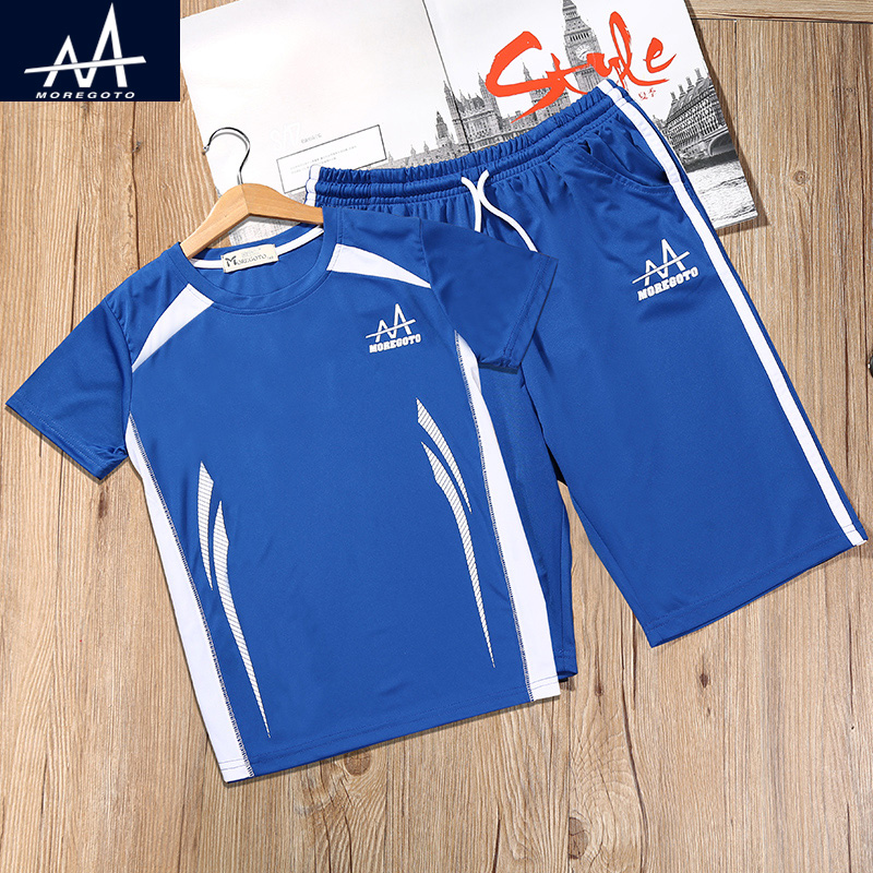 Summer Boy's Sports Suit Children's Soccer Clothes Dry Sportswear Big Boy Jogging Sets Boys 2pcs Clothing Sets Tee and shorts 2016 kids summer boys short suit children sportswear big boy two sets of tee set