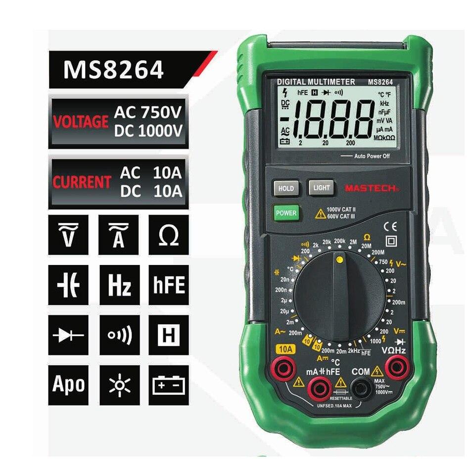 Mastech MS8264 MS8265 MS8268 MS8269 Multimètre Numérique LCR Meter AC/DC  Tension Courant multifunctionTester Inductance