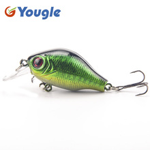 5pcs/lot Hard Artificial Life-like Assorted Fishing Lure Bait Minnow Crank Swimbait Crankbait with Treble Hook 5.5cm 8g  Tackle