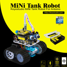 Keyestudio DIY Mini Tank Smart Roboter car kit für arduino Robot starter + handbuch + PDF + Installation Video + Demo-Video + 5 Projekte