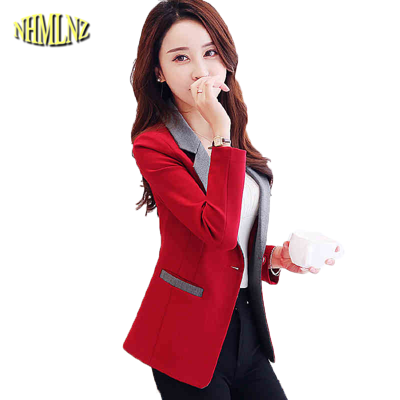 2019 Autumn Solid color Women Blazers Long sleeves Slim Coats For Women Temperament Short Blazers Female S 3XL DAN245