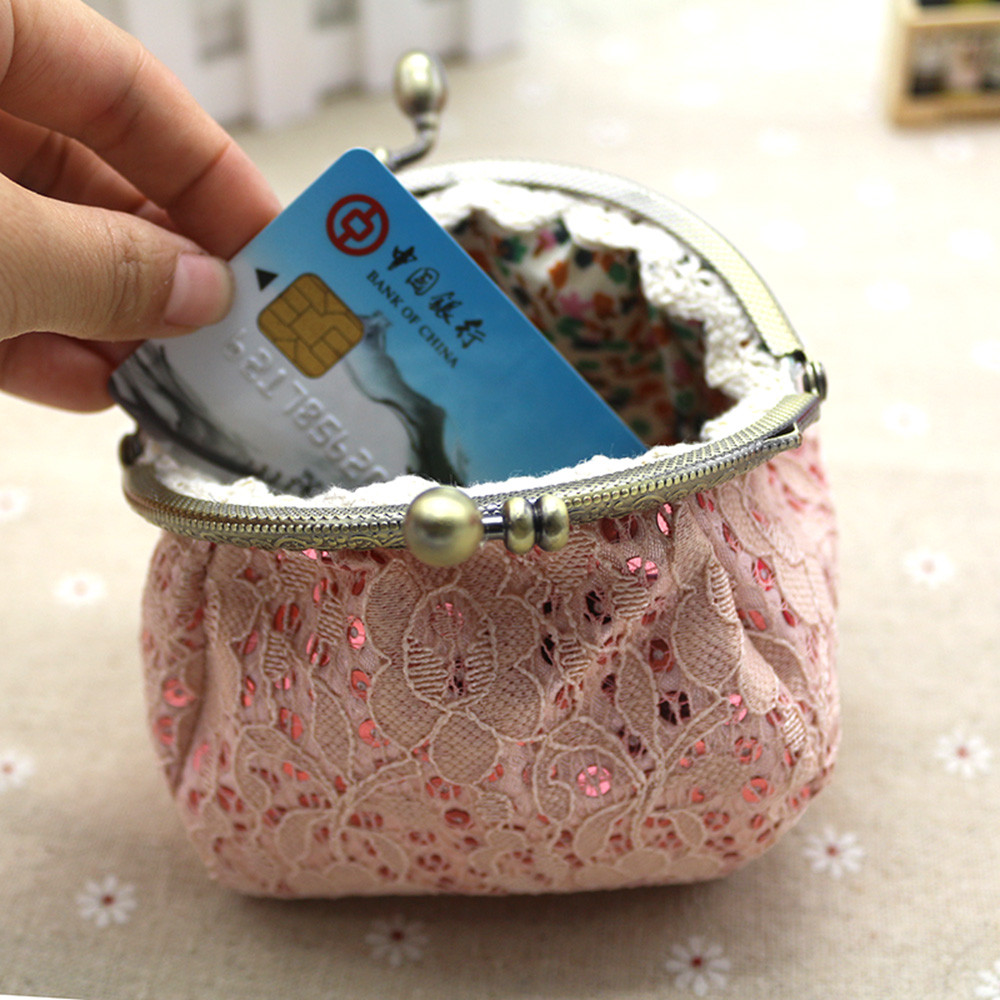 8c8a700cf Naivety Coin Purse drop shipping New Gift Women Mini Luxury Lace Hasp  Wallet Purse Coins Pocket
