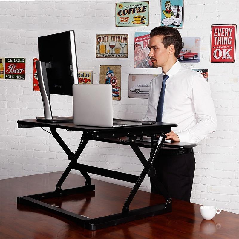 Compra altura ajustable escritorio online al por mayor de for Altura escritorio ergonomico
