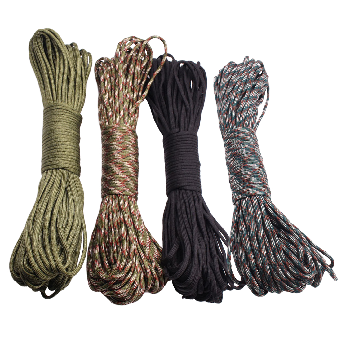 550 Parachute Cord Lanyard 100FT 31m Climbing Camping Survival Equipment Rope