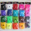 600 PCS por atacado faixa de borracha Sólida chiclete para meninas, máquina para tecer faixas elásticas, goma para pulseira
