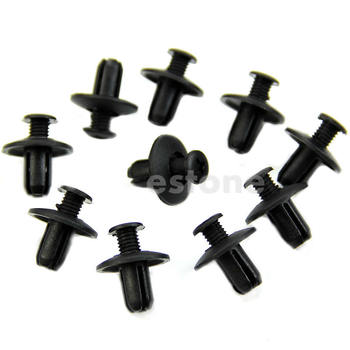 10pcs 8mm Car Hole Dia Plastic Rivets Fastener Fender Bumper Push Pin Clips image