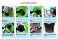 для VIP красоты малайзии глубокая волна связки с закрытием натуральные волосы связки с закрытием реми волос глубокая волна связки 1Б