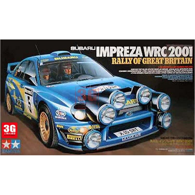 1/24 Subaru WRC2001 Rally Version of The Car Assembly 24250 tamiya car model luxuriously subaru impreza wrc2001 british rally 24250