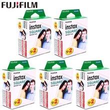 Fujifilm Instax kare beyaz kenar siyah filmler fotoğraf kağıdı (10 100 adet) instax SQ10 SQ6 anında kamera paylaşımı SP 3 yazıcı