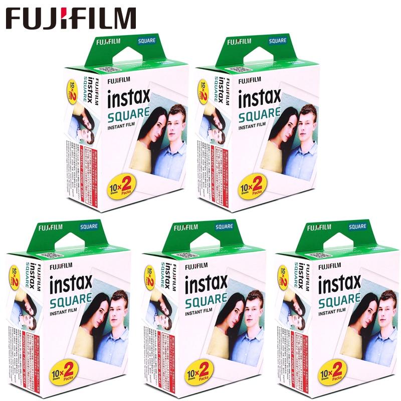 Fujifilm Instax Quadratische Weiße Rand Schwarz Filme Foto Papier (10-100 stücke) für Instax SQ10 SQ6 Instant Kamera Teilen SP-3 Drucker
