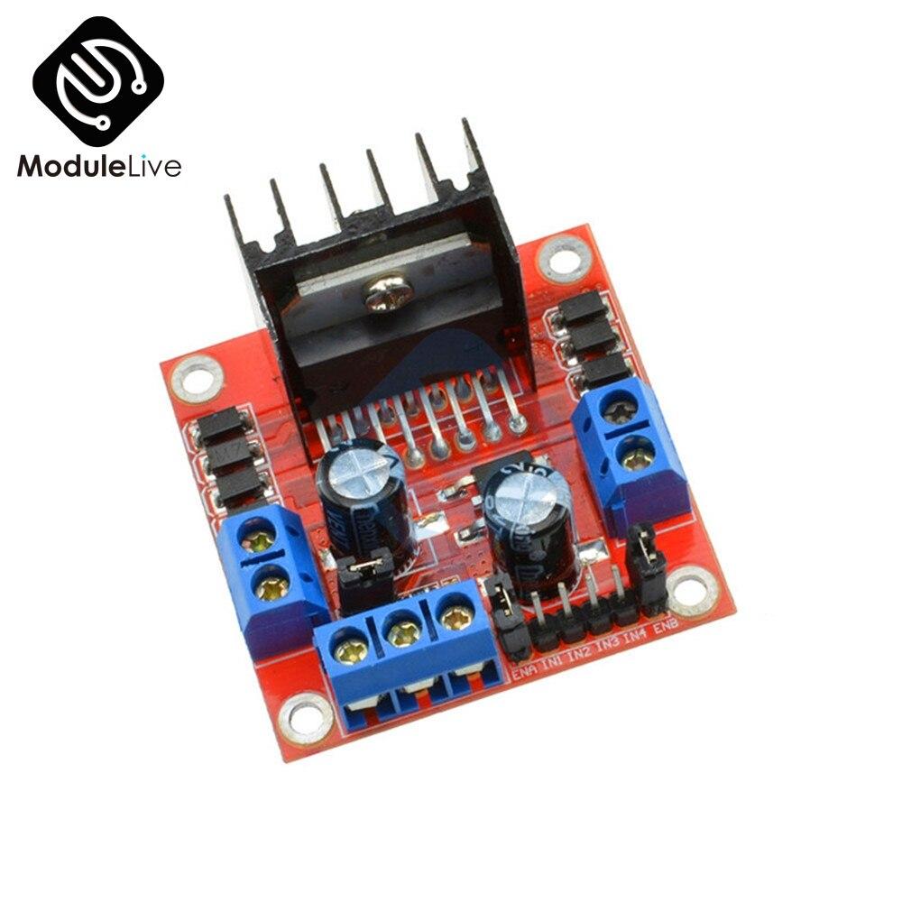 L298N L298 25W Dual Channel H Bridge DC Stepper Motor L298N Drive Controller Board Module 5V 2A Driver Control For Arduino