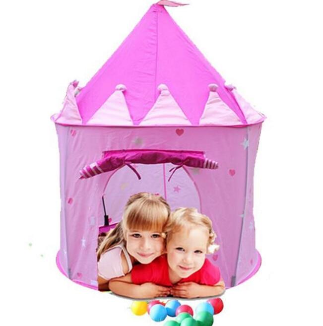 Portable Children Kids Play Tents Outdoor Garden Folding Toy Tent Pop Up Kids Girl Princess Castle Outdoor House Kids Tent