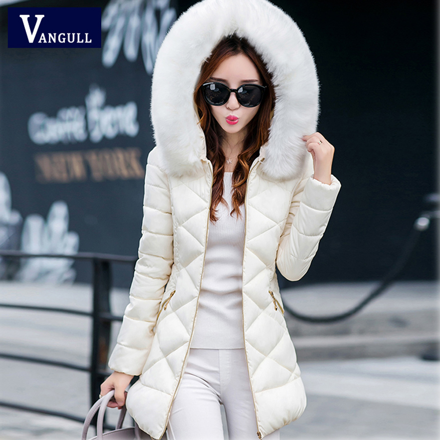 2016 New Autumn and Winter Long sections Slim Thick Coat Female Thin Down Cotton Hooded Fashion Solid Casual Down Jacket lucky panda 2016 the new winter coat and female slim in the long and small lattice fragrant cotton lkp243