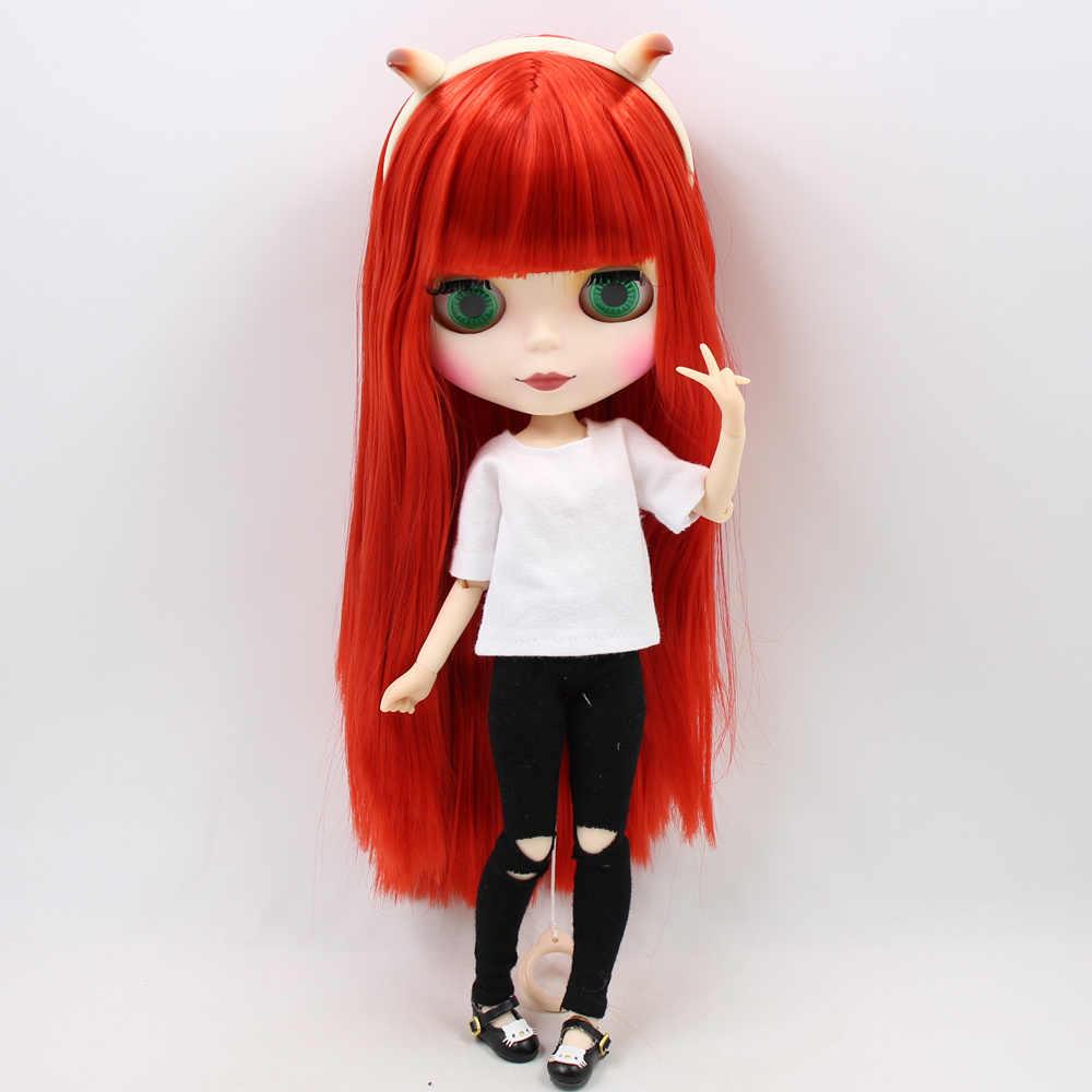 Блит кукла комбинация Красный Маленький Дьявол с матовым лицом совместное тело, одежда, обувь, Дьявол Рог, ручной набор AB как подарок 1/6 BJD