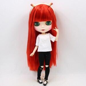 Image 3 - Lalki Blyth kombinacji czerwony mały diabeł z matową twarzą wspólne body ubrania buty diabeł róg zestaw ręczny AB jako prezent 1/6 BJD