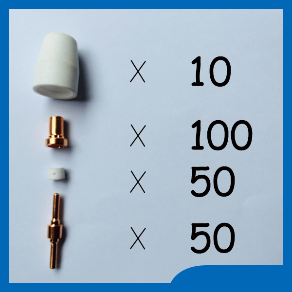 Free shipping PT-31 LG-40 Plasma Cutting Torch consumables Extended Plasma Nozzles Fit CUT-50D CUT-40 CT-312,210PK free shipping pt31 lg40 lg 40 plasma cutter cutting knife consumables kit extended plasma nozzles tips fit cut 40 50d ct 312